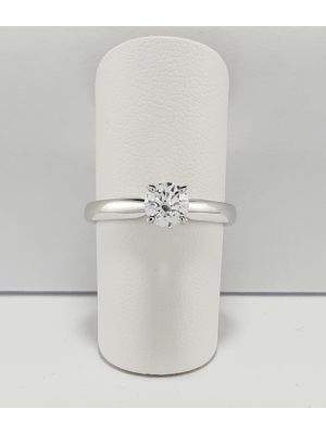 18ct White Gold Tiffany style Diamond Solitaire Ring